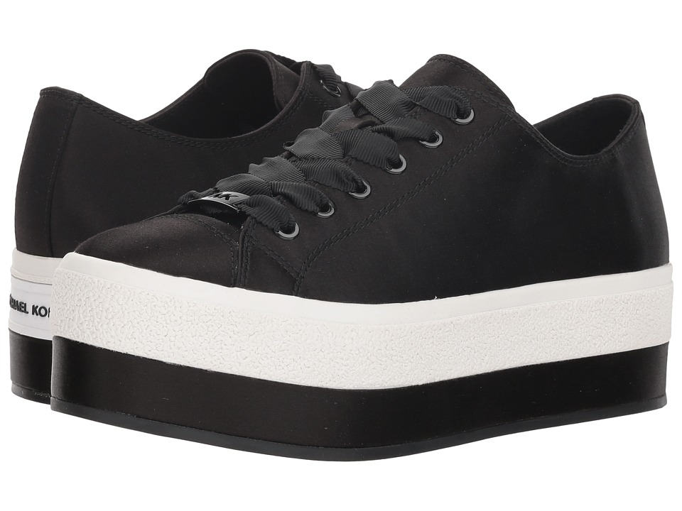 MICHAEL Michael Kors Ronnie Sneaker (Black Satin) Women's Shoes