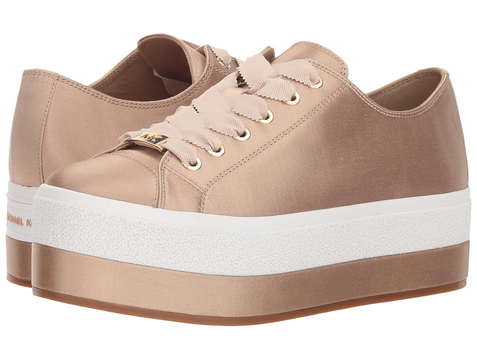 MICHAEL Michael Kors Ronnie Sneaker (Bisque Satin) Women's Shoes