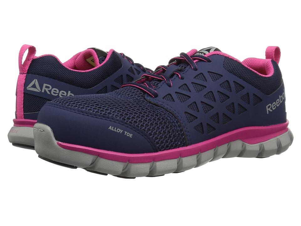 Reebok Work Sublite Cushion Work (Navy/Pink) Women's Work Boots