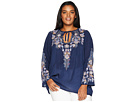 Johnny Was Johnny Was Plus Size Tanya Tonal Blouse