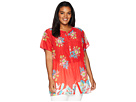 Johnny Was Plus Size Flower Arch Button Down