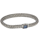 John Hardy Classic Chain 6.5mm Bracelet with Blue Sapphire