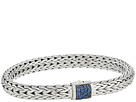 John Hardy Classic Chain 7.5mm Bracelet with Blue Sapphire