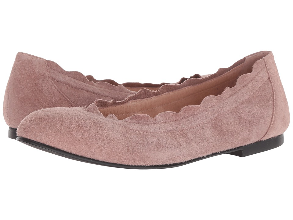 French Sole Cuff Flat (Dusty Pink Suede) Women's Shoes