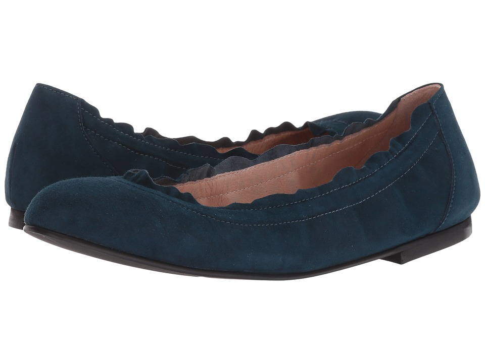 French Sole Cuff Flat (Russo Blue Suede) Women's Shoes