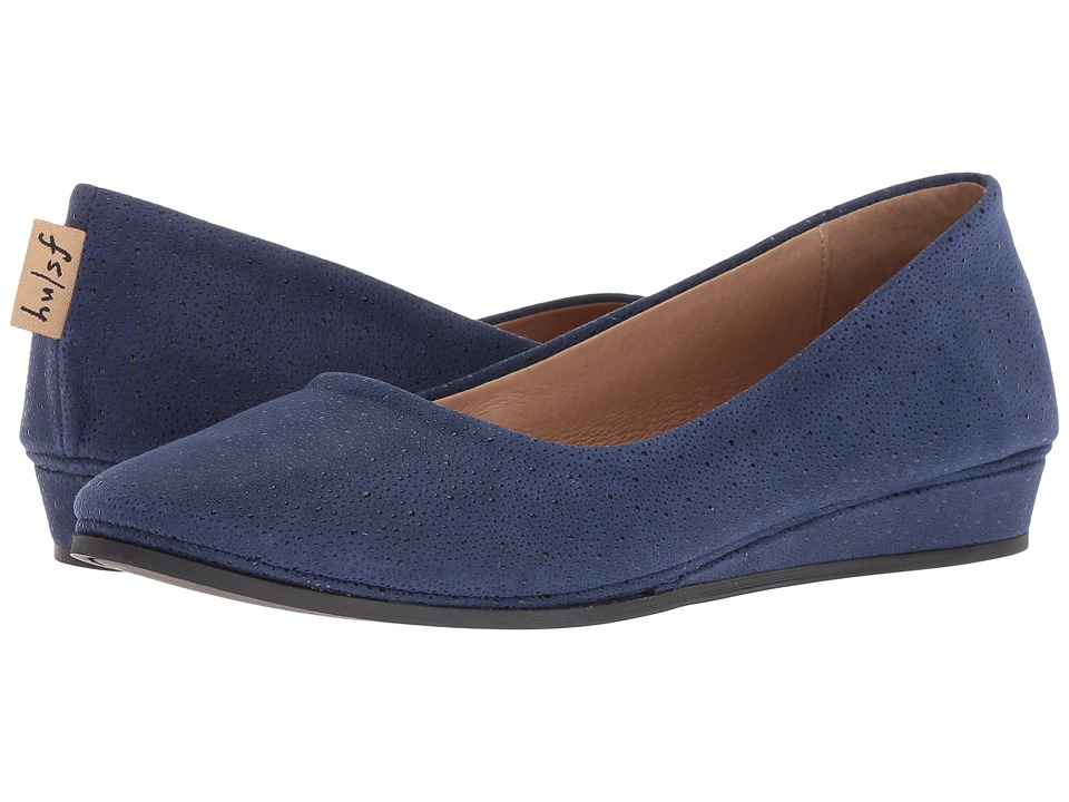 French Sole Zeppa Flat (Blue Stingray) Slip-On Shoes