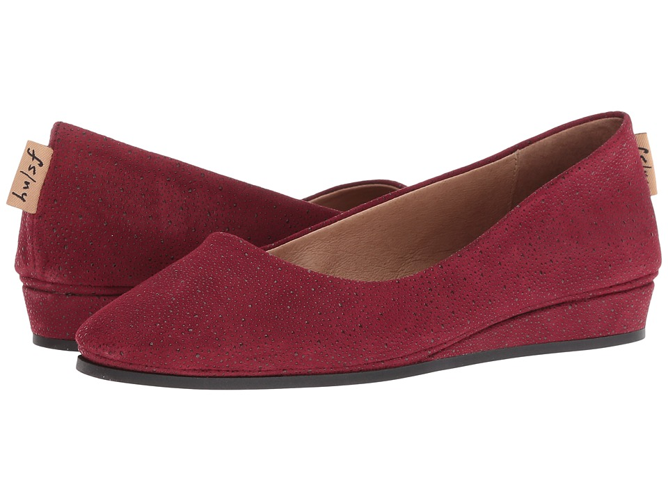 French Sole Zeppa Flat (Burgundy Stingray) Slip-On Shoes