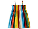 Dolce & Gabbana Kids Painterly Striped Poplin Dress (Infant)