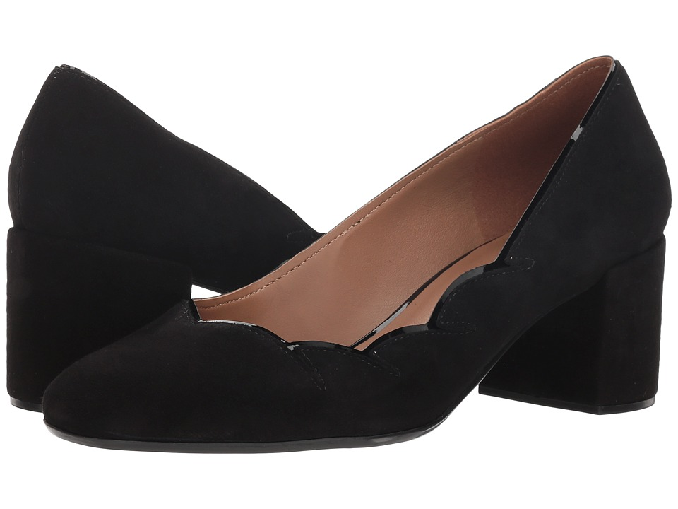 French Sole Couplet Heel (Black Suede) Women's Shoes