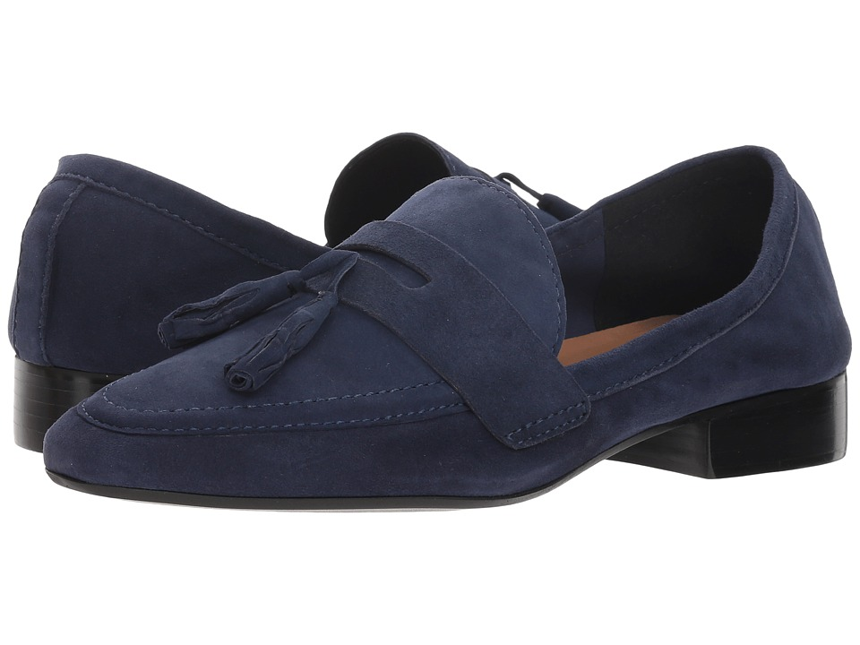 French Sole Chime Loafer (Navy Suede) Slip-On Shoes