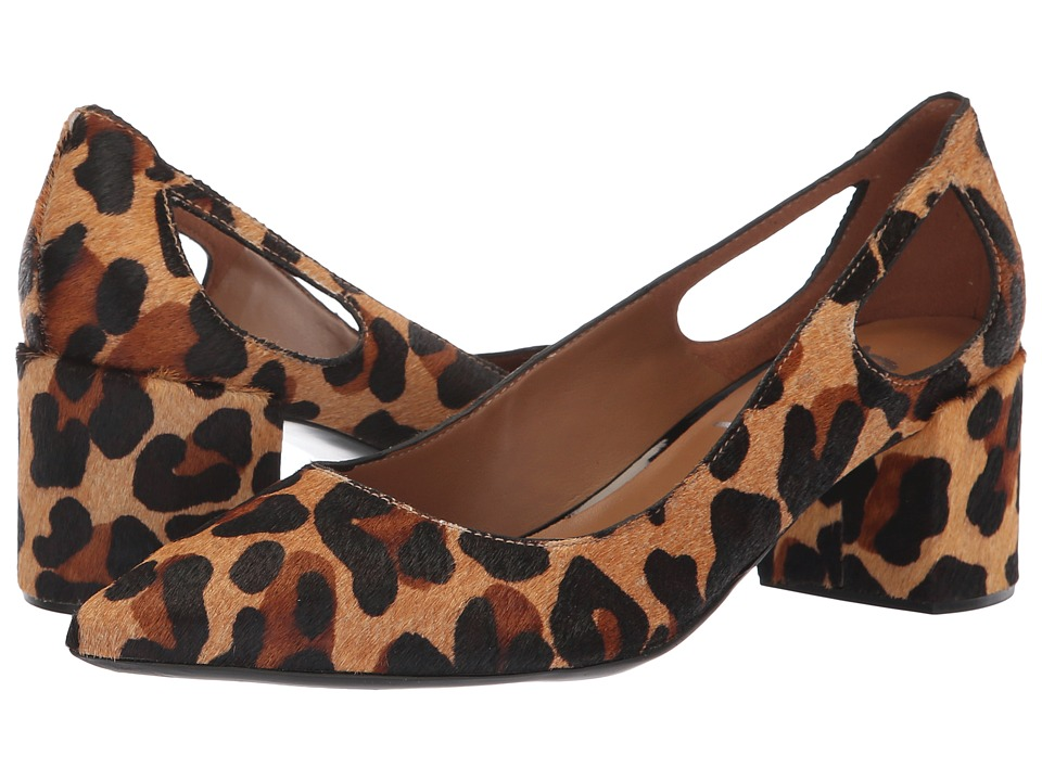 French Sole Courtney2 Heel (Beige Leopard Haircalf) Women's Shoes
