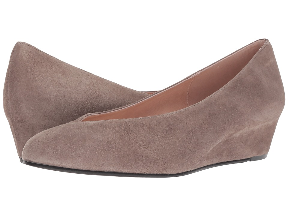 French Sole Cubic Wedge Heel (Mushroom Suede) Women's Shoes