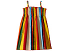Dolce & Gabbana Kids Painterly Striped Poplin Dress (Toddler/Little Kids)