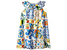 Dolce & Gabbana Kids Poplin Maioliche Dress (Toddler/Little Kids)