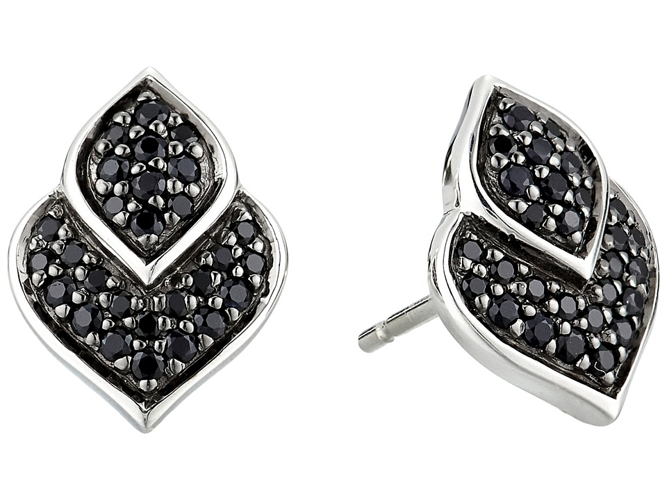 John Hardy Legends Naga Stud Earrings with Black Sapphire...
