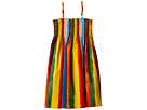 Dolce & Gabbana Kids Painterly Striped Poplin Dress (Big Kids)