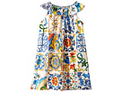 Dolce & Gabbana Kids Poplin Maioliche Dress (Big Kids)