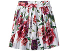 Dolce & Gabbana Kids Poplin Peonie Skirt (Toddler/Little Kids)