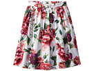 Dolce & Gabbana Kids Poplin Peonie Skirt (Big Kids)