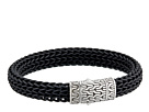 John Hardy Classic Chain 10.5mm Station Bracelet in Black Rubber