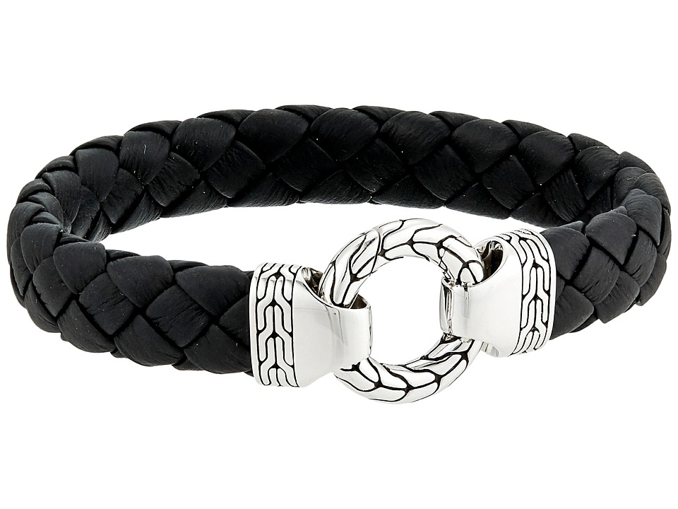 John Hardy Classic Chain 12mm Ring Clasp Bracelet in Blac...