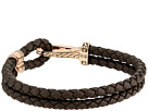 John Hardy Classic Chain Hook Clasp Bracelet in Brown Leather