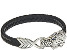 John Hardy Legends Naga 10mm Station Bracelet in Black Leather