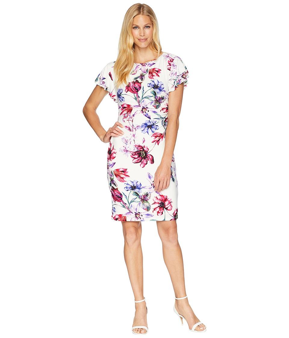 LAUREN Ralph Lauren - B595 Swansong Floral Latoya Day Dress (Colonial Cream/Pink/Multi) Womens Dress