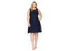 LAUREN Ralph Lauren LAUREN Ralph Lauren Plus Size 148H Embroidered Mondriana Sleeveless Day Dress
