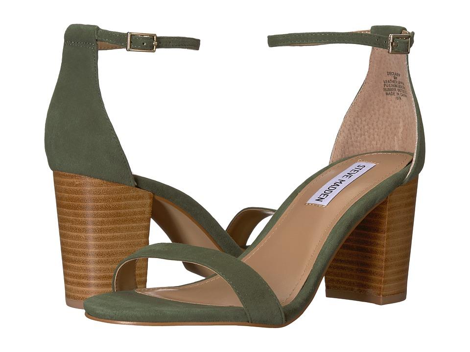 Steve Madden Exclusive - Declair Block Heeled Sandal (Olive Multi) High Heels