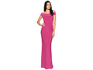 Adrianna Papell Off the Shoulder Stretch Jersey Long Gown