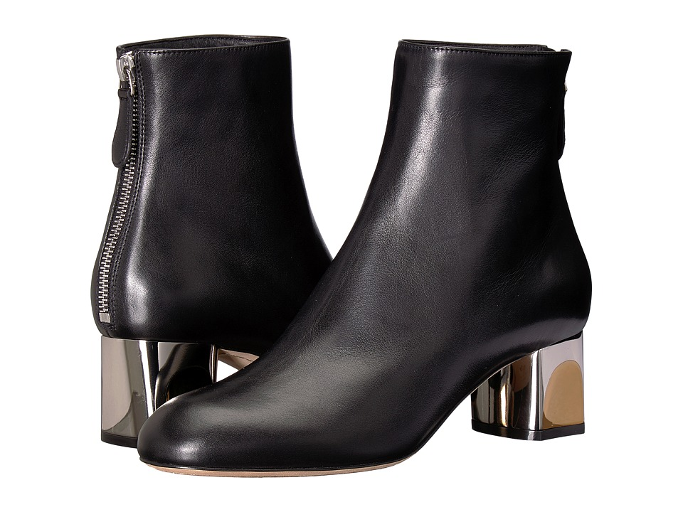 Alexander McQueen Sculpted Heel Ankle Boot (Black)