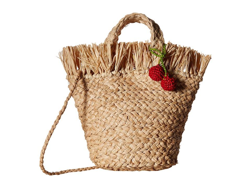 Hat Attack - Mini Frayed Tote (Natural/Cherries) Tote Handbags