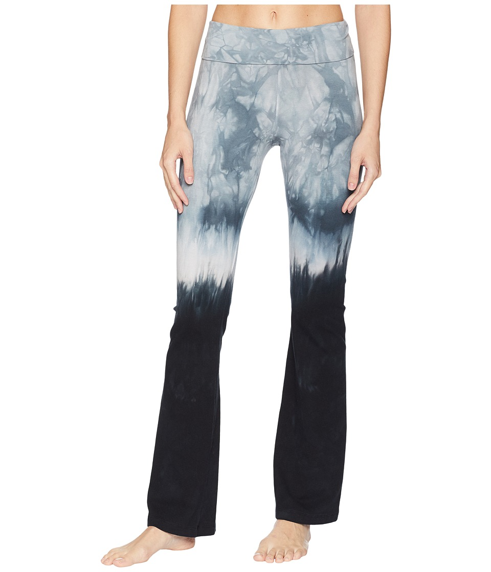Hard Tail Rolldown Bootleg Flare Pants (Crystal Dip-Dye 1) Women