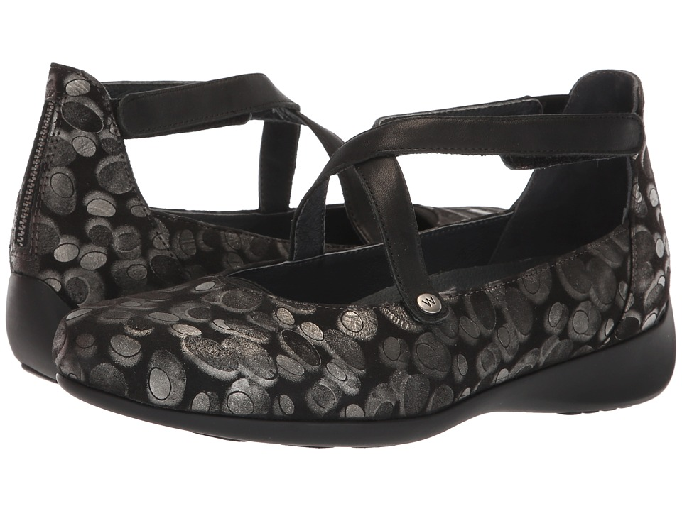 Wolky Ambrosia (Black Metallic) Women's Shoes