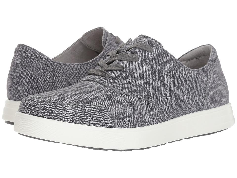 Alegria Flexer (Black Denim) Men's Lace up casual Shoes