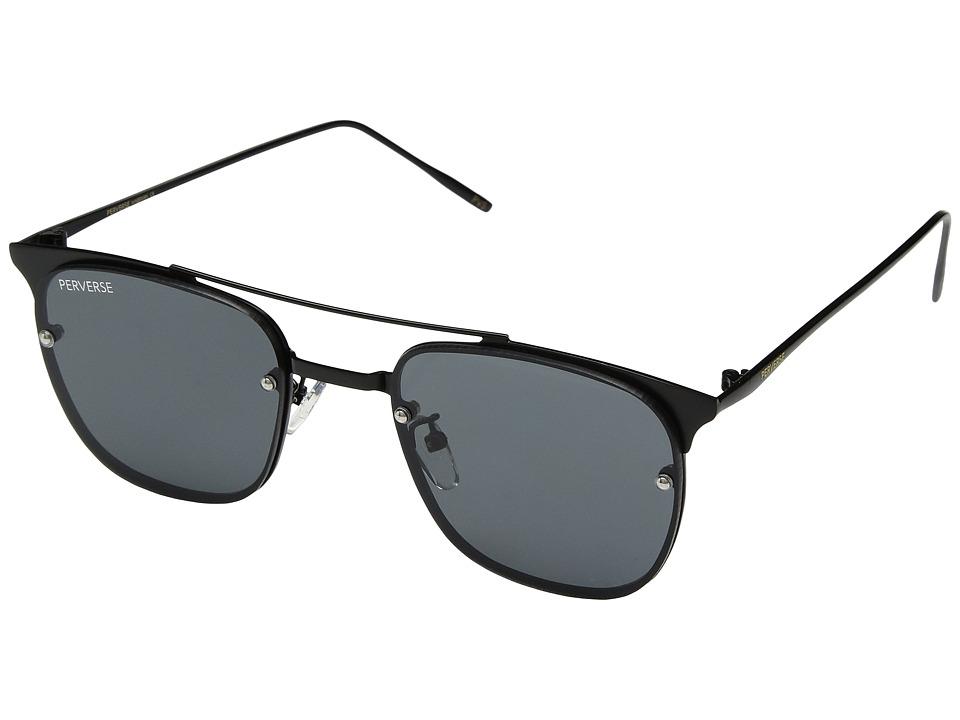 PERVERSE Sunglasses - Will (Matte Black/Black) Fashion Sunglasses