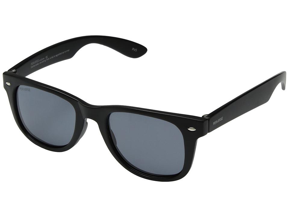 PERVERSE Sunglasses - Alex (Black Matte/Black Polarized) Fashion Sunglasses