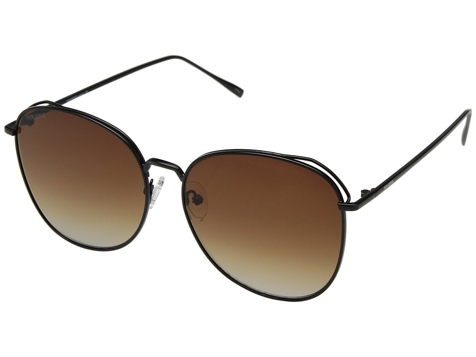 PERVERSE Sunglasses - Joy (Black/Brown Gradient) Fashion Sunglasses