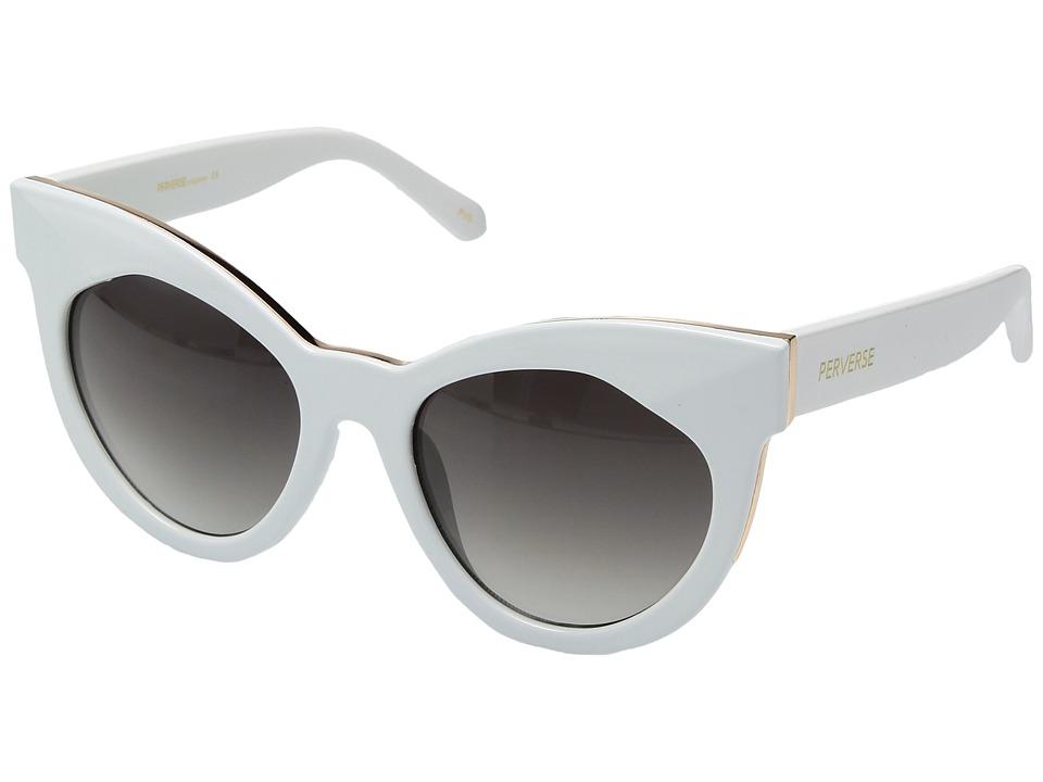 PERVERSE Sunglasses - Cosmopolitan (White/Black Gradient) Fashion Sunglasses
