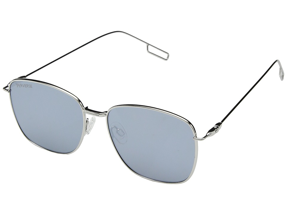 PERVERSE Sunglasses - Em (Silver/Silver Mirror) Fashion Sunglasses