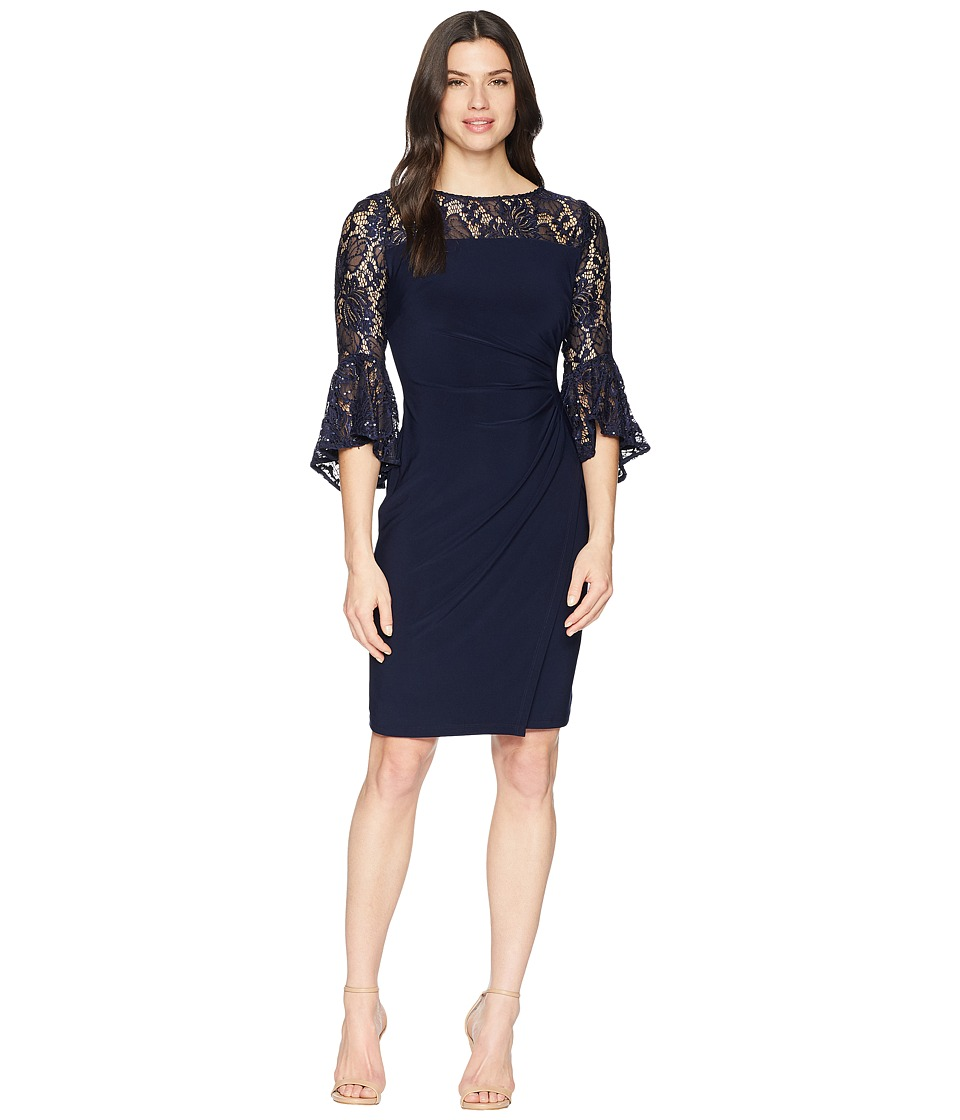 LAUREN Ralph Lauren - Sandara (Lighthouse Navy/Navy Shine) Womens Dress