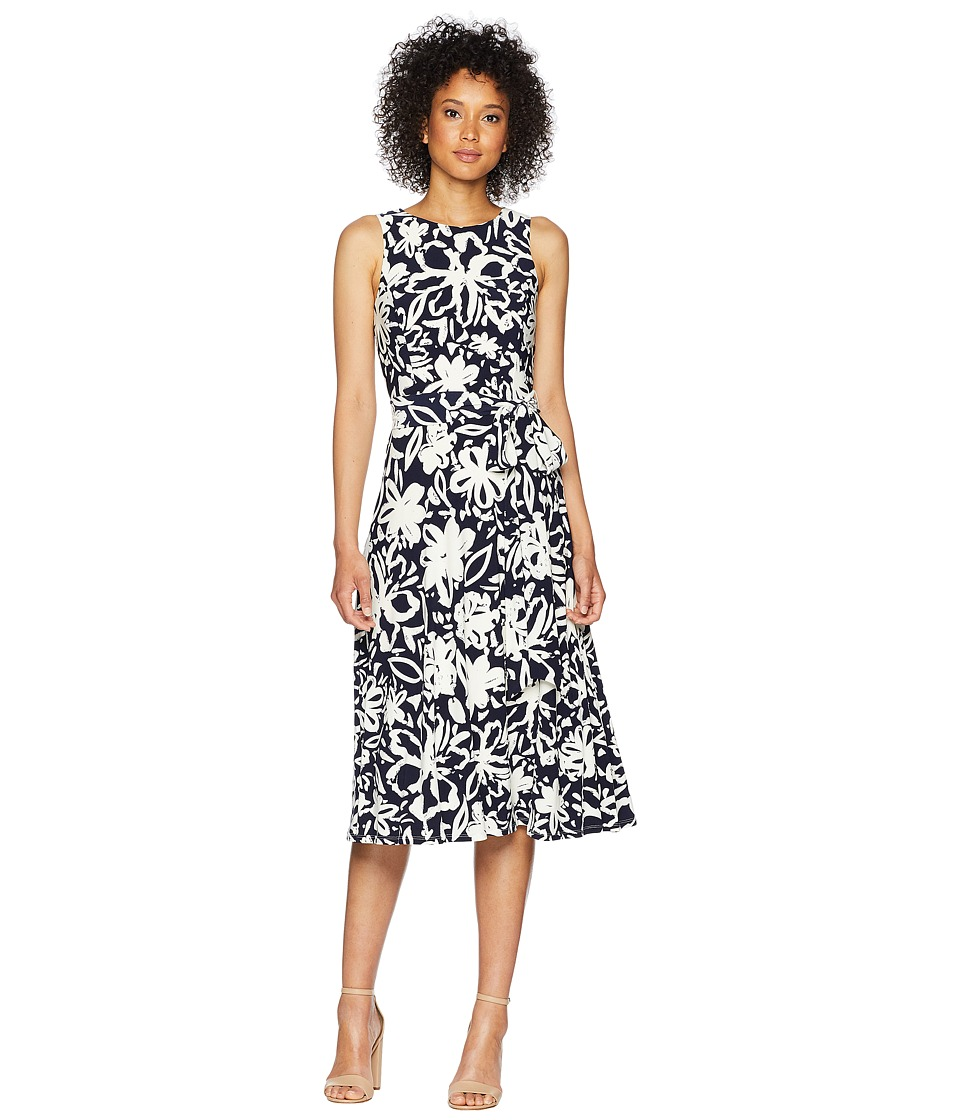 LAUREN Ralph Lauren - Feliana (Lighthouse Navy/Colonial Cream) Womens Dress