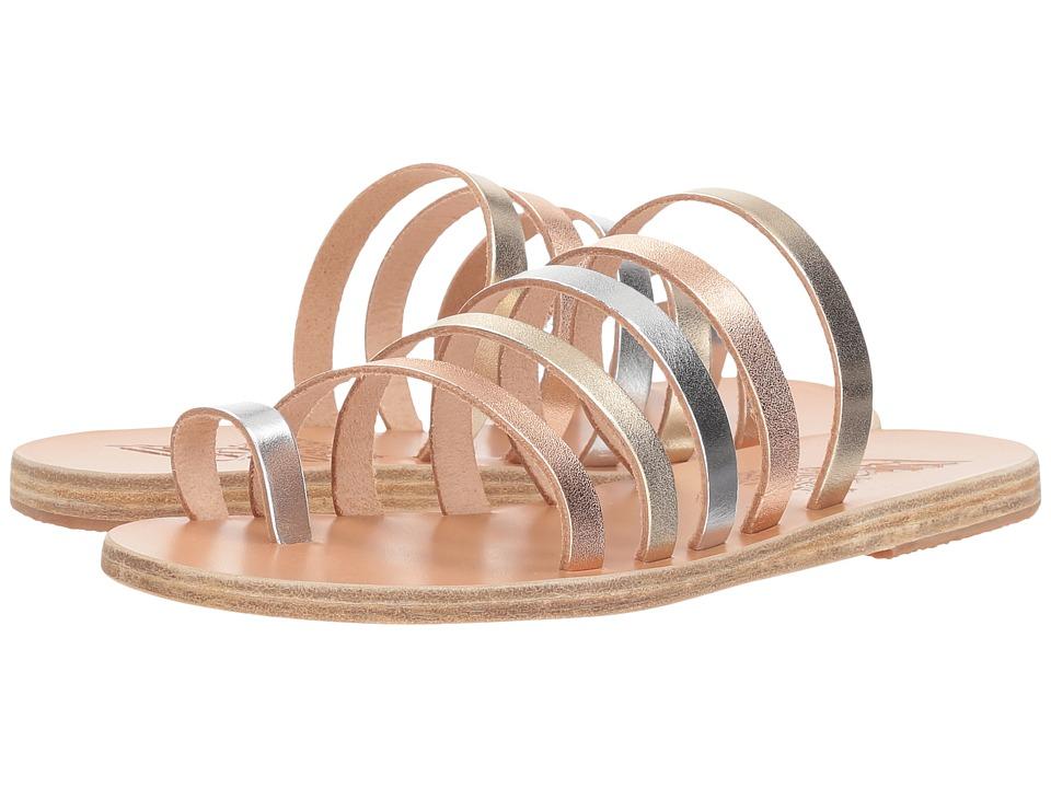 Ancient Greek Sandals Niki (Pink Metal/Silver/Platinum Vachetta Metal Mix) Sandals