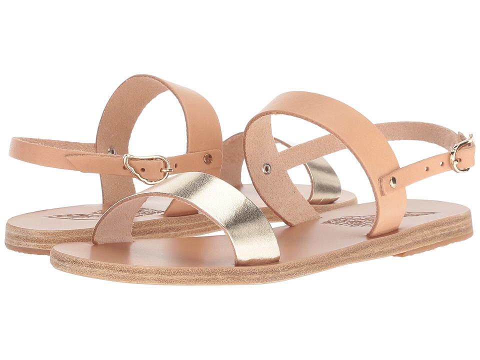Ancient Greek Sandals Clio (Natural/Platinum Vachetta Mix) Sandals