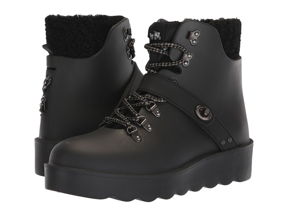 COACH Urban Hiker Rain Boot (Black Rubber)