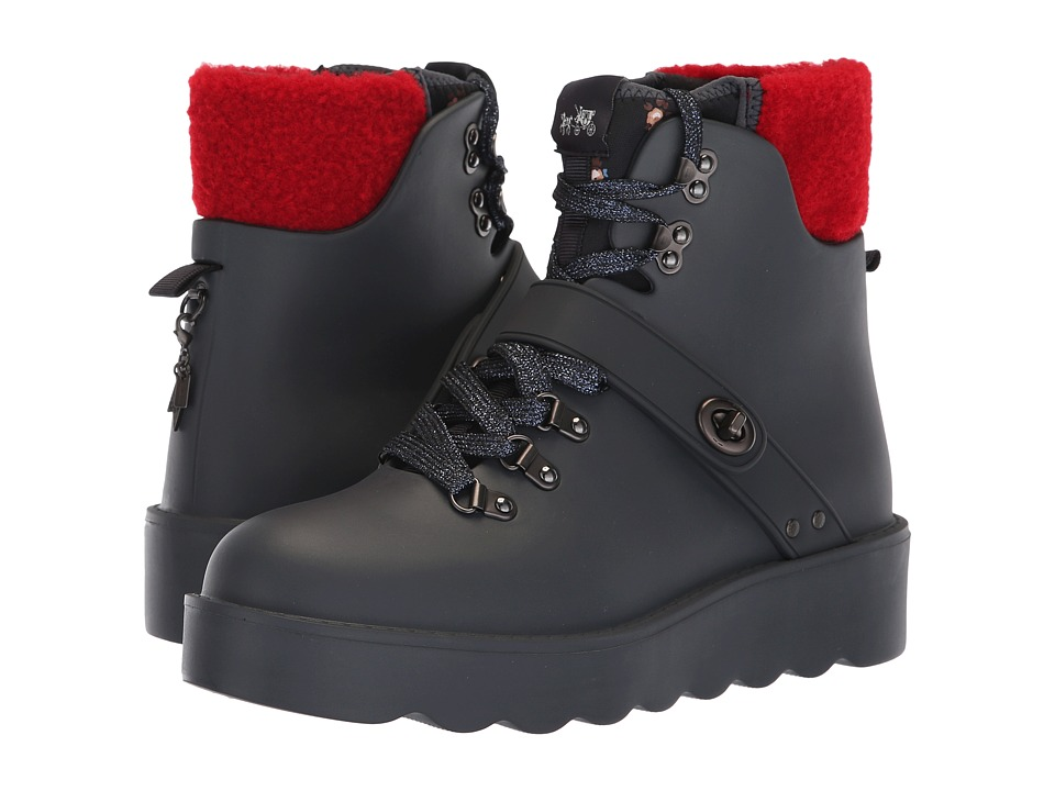 COACH Urban Hiker Rain Boot (Navy Rubber)