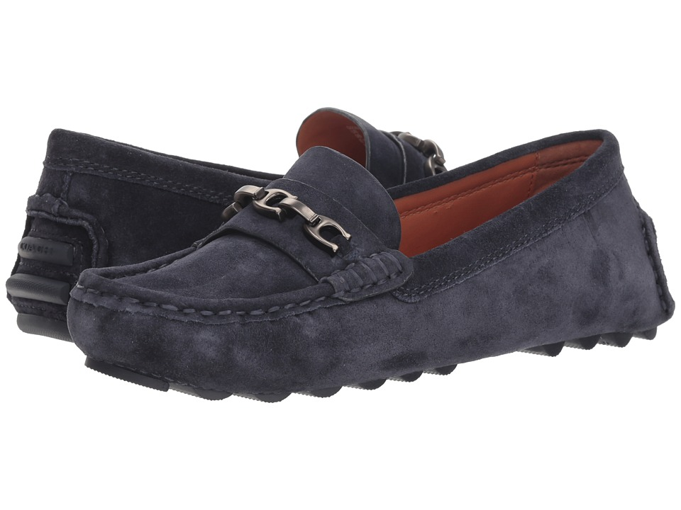 COACH Crosby Driver with Signature Chain (Midnight Navy Suede) Women's Shoes