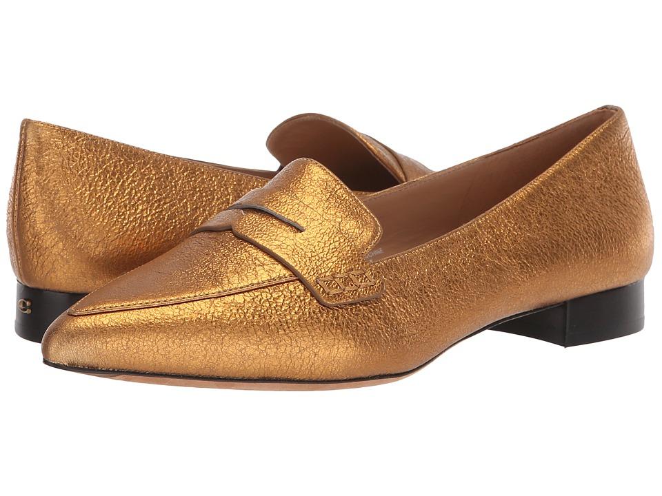 COACH Naomi Loafer (Gold Metallic) Slip-On Shoes