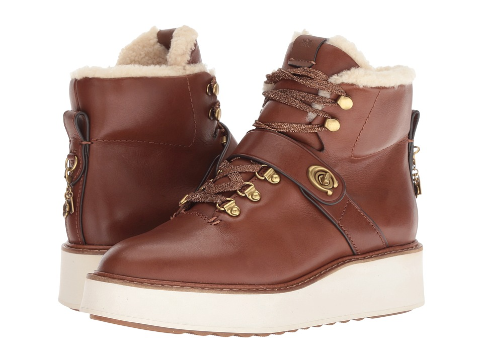 COACH Urban Hiker with Signature Buckle (Lion Leather) Women's Shoes